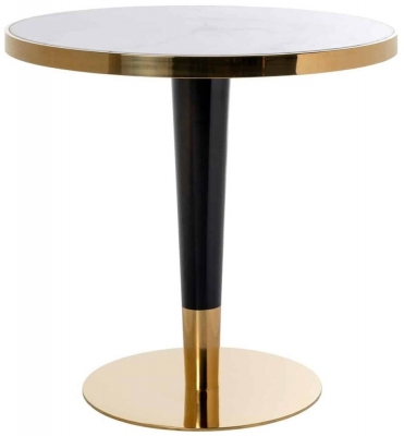 Osteria Replica Marble Round Dining Table - 80cm
