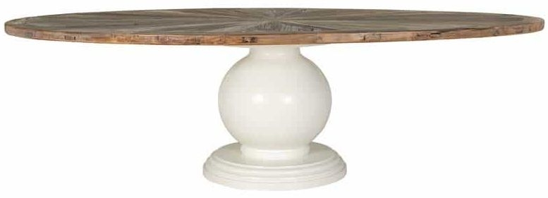 Aberdeen Oval Dining Table with Massive Round Legs