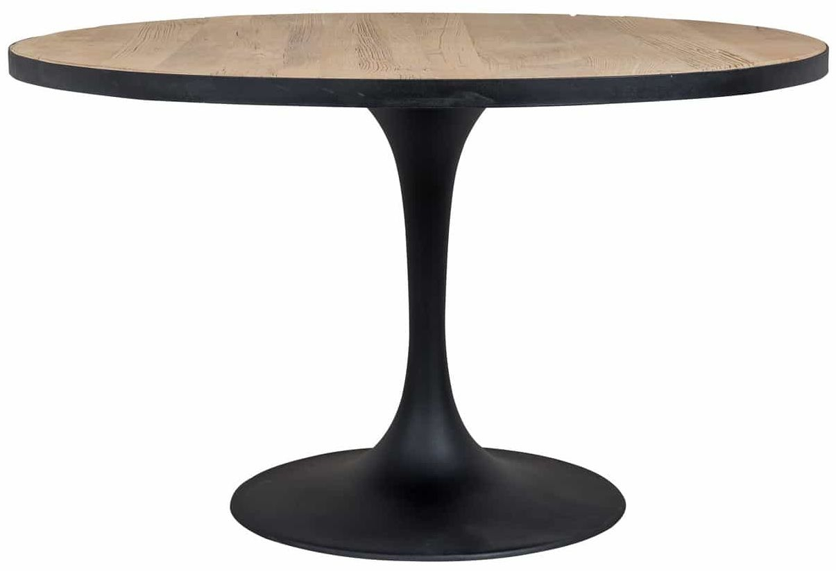 Everton Round Dining Table with Iron Frame