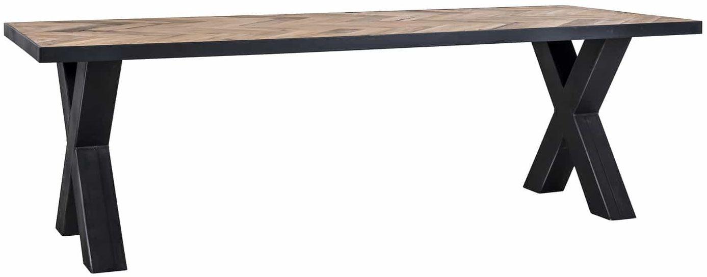 Lexington Industrial Dining Table with X-Shape Legs