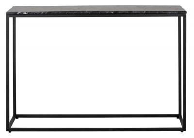 Fairmont Black Marino Marble Console Table
