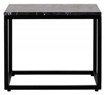 Fairmont Black Marino Marble Side Table