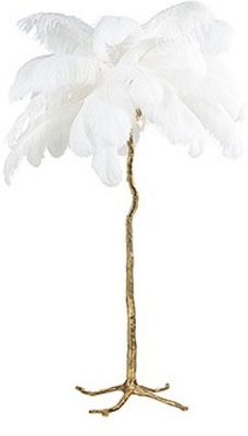 Burlesque White Floor Lamp