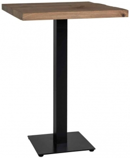Gastronomy Square Bar Table with Single Leg - 80cm