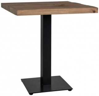 Gastronomy Oak Square Dining Table with Single Leg - 70cm