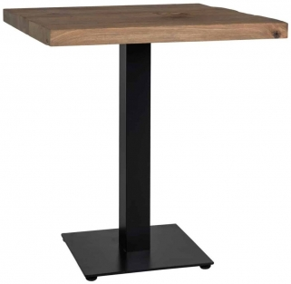 Gastronomy Oak Square Dining Table with Single Leg - 80cm