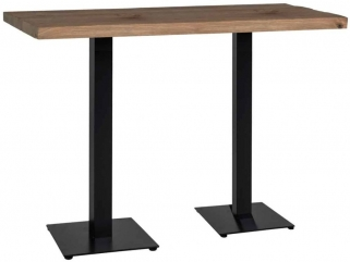 Gastronomy Bar Table with Double Leg - 120cm