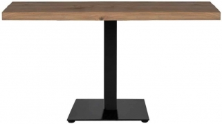 Gastronomy Oak Dining Table with Single Leg - 140cm