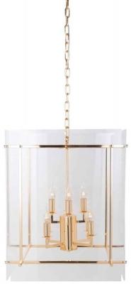 Chess Gold Hanging Lamp