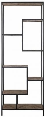 Herringbone Old Oak 7 Shelves Display Unit