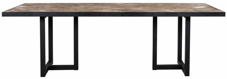Herringbone Old Oak Dining Table - 200cm