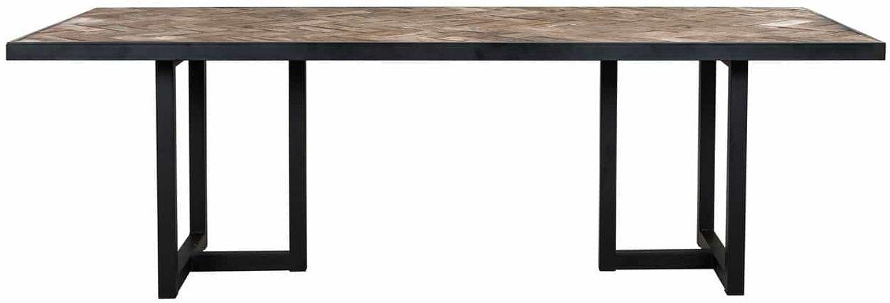Herringbone Old Oak Dining Table - 240cm