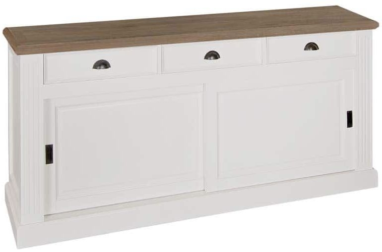 Jan Oak Sideboard - 2 Door 3 Drawer