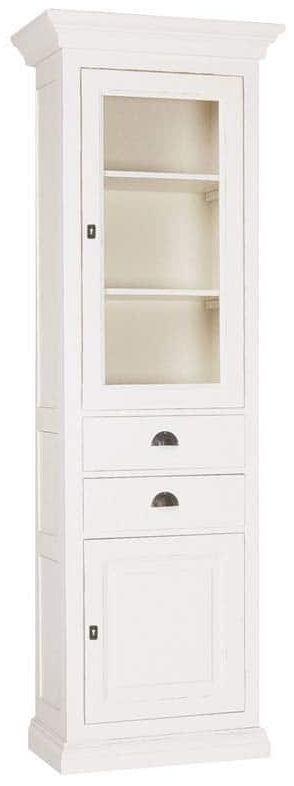 Hull Painted Display Cabinet - Right Hand Facing 2 Door 2 Drawer