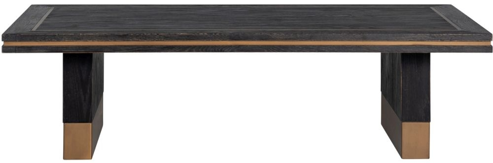 Hunter Black Oak and Gold Coffee Table
