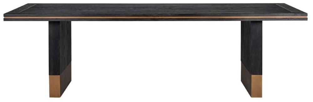 Hunter Black Oak and Gold Dining Table
