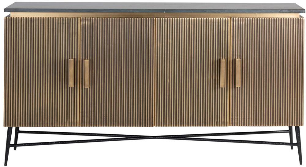 Ironville Golden 4 Door Sideboard