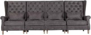 Jonas 4 Seater Fabric Sofa