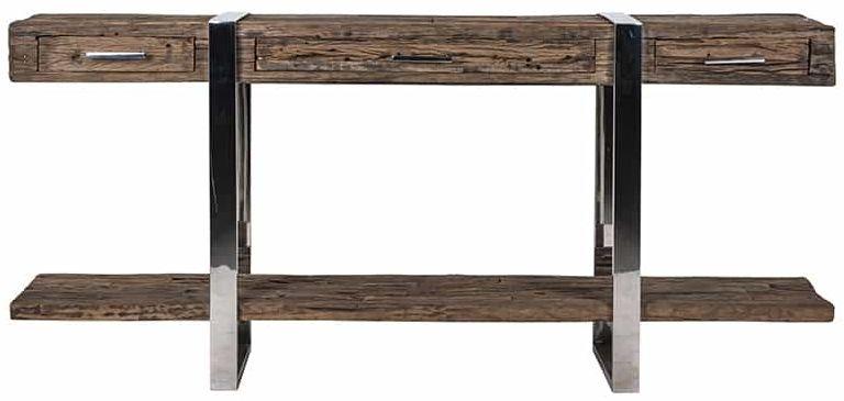 Kensington Sleeper Wood and Silver 3 Drawer Sideboard