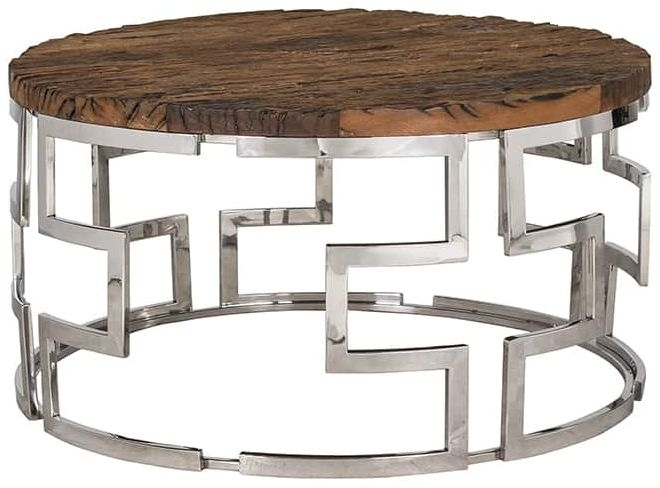 Kensington Recycled Wood Round Coffee Table
