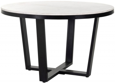 Lexington White Carrara Marble 130cm Round Dining Table