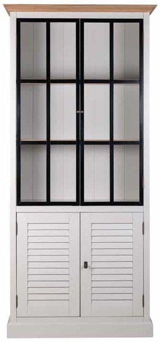 Louvre Painted Display Cabinet - 4 Door