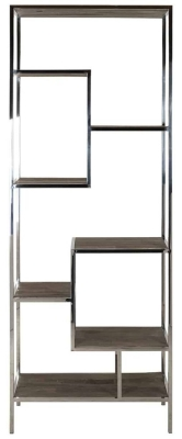 Maddox Elm Wood and Stainless Steel Display Unit