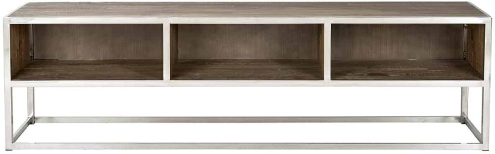 Maddox Elm Wood 3 Open Compartments TV Unit