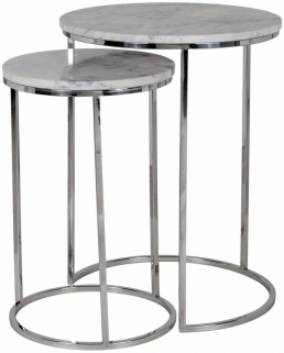 Lacey Marble Top Side Table (Set of 2)