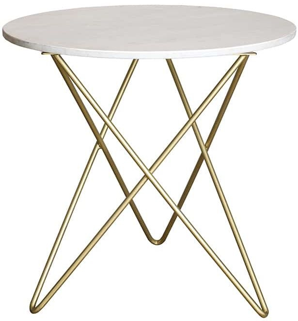 Eliot Round Dining Table with Marble Top