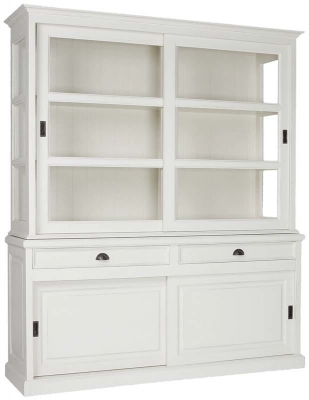 Milaan 4 Sliding Door 2 Drawer Large Dresser