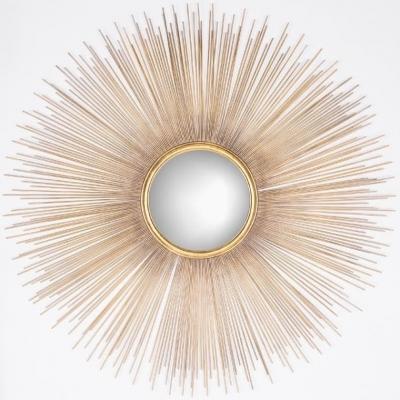 Cass Gold Round Mirror - 90cm x 90cm