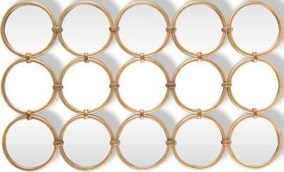 Coley Gold 15 Round Mirror - 72cm x 120cm