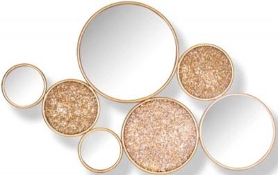 Isaiha Gold 4 Round Mirror - 52.5cm x 83.5cm