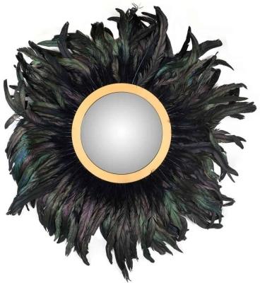 Madlen Black Round Wall Mirror - 75cm x 75cm