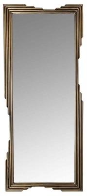 Carlos Brushed Gold Rectangular Mirror - 61cm x 142.5cm