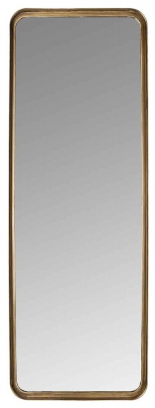 Carlo Brushed Gold Rectangular Mirror - 42.5cm x 120cm
