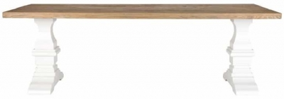 Zahia Old Oak Dining Table with Castine Legs - 200cm