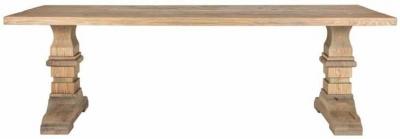 Zahia Old Oak Dining Table with Castleton Legs - 200cm