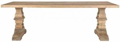Zahia Old Oak Dining Table with Castleton Legs - 240cm