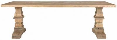 Zahia Old Oak Dining Table with Castleton Legs - 180cm
