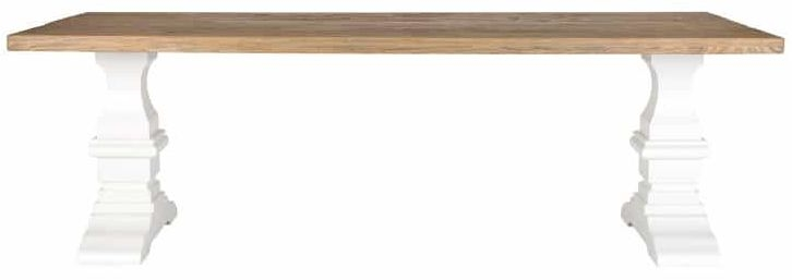Zahia Old Oak Dining Table with Castine Legs - 180cm