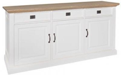 Oakdale Oak and Painted 3 Door 3 Drawer Sideboard