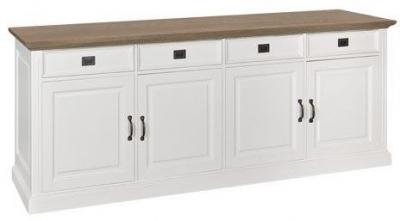 Oakdale Oak and Painted 4 Door 4 Drawer Sideboard