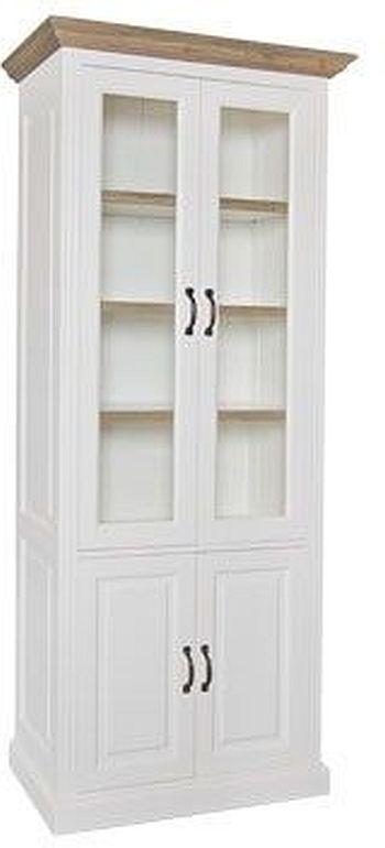 Oakdale Oak and Painted 4 Door Display Cabinet