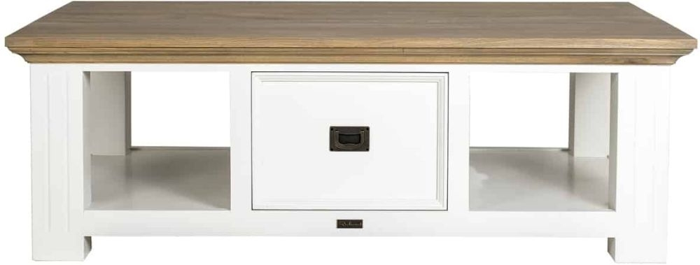Oakdale Oak and Painted 2 Drawer Coffee Table