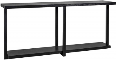 Oakura Black Oak Console Table - 180cm x 40cm
