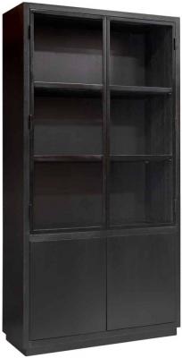 Oakura Black Oak 2 Door Display Cabinet