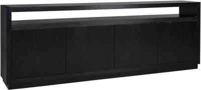 Oakura Black Oak 4 Door Sideboard