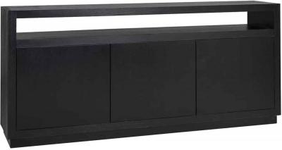 Oakura Black Oak 3 Door Sideboard
